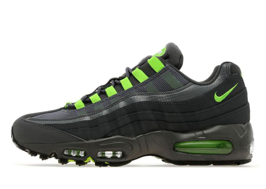 Nike air max 90 em womens black dark grey flash lime,nike