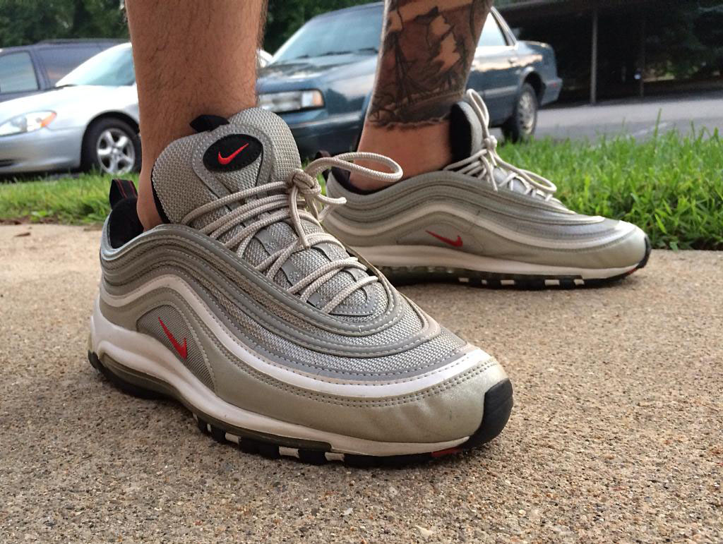 Fornastyy in the 'Silver Bullet' Nike Air Max 97