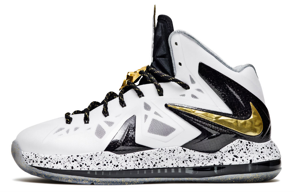 Nike LeBron X PS Elite+ White Gold (1)