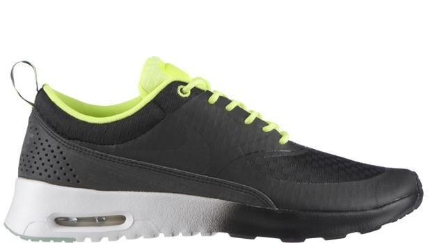 Nike Air Max Thea Woven QS Women\u0026#39;s Black/Black-Volt-White