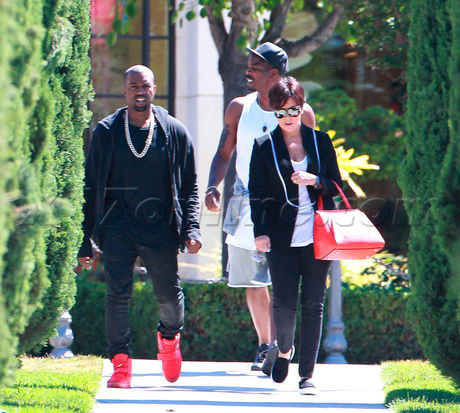 Kanye West Wears All-Red Nike Air Yeezy 2 (3)