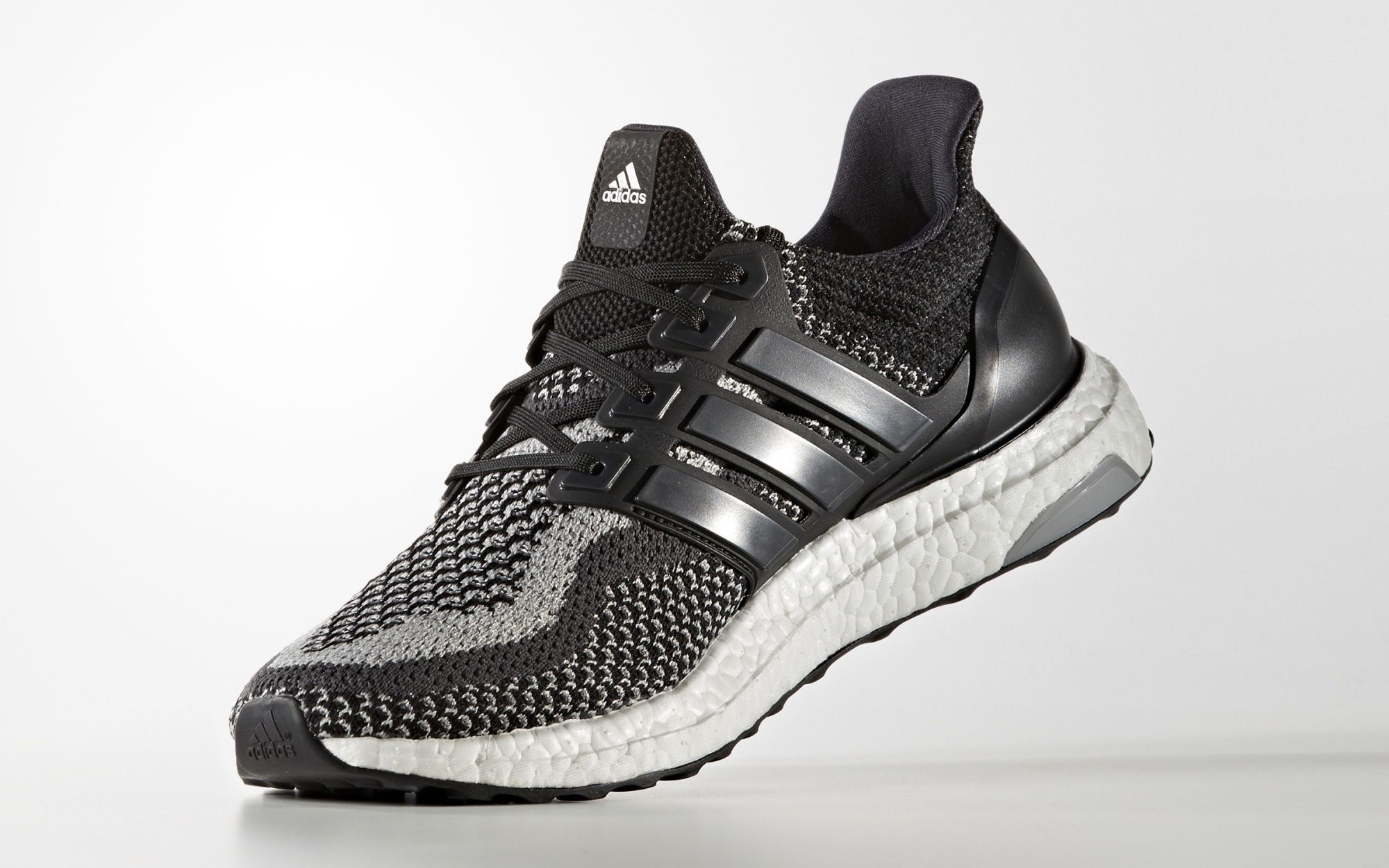 Black Adidas Ultra Boost Reflective Medial