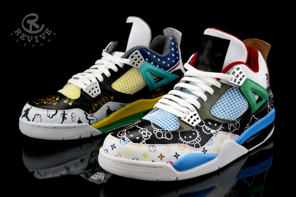 Air Jordan 4 Quot What The Fake Quot By Revive Customs Sole