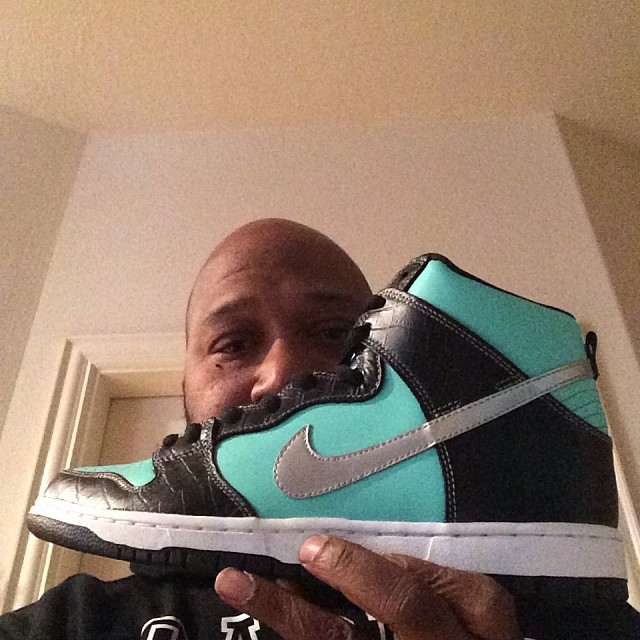 Bun B wearing Nike Dunk High SB Tiffany