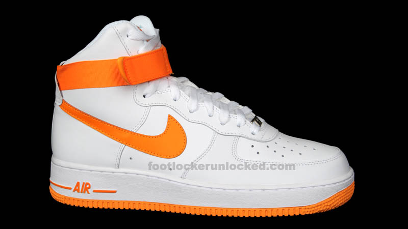 Nike Air Force 1 High White Vivid Orange 315121-180 (1)