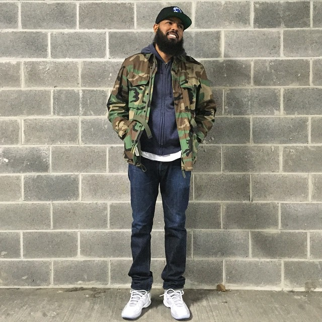 6f97d03bc4d Stalley Wearing The Flu Game Air Jordan 12 Celebrity