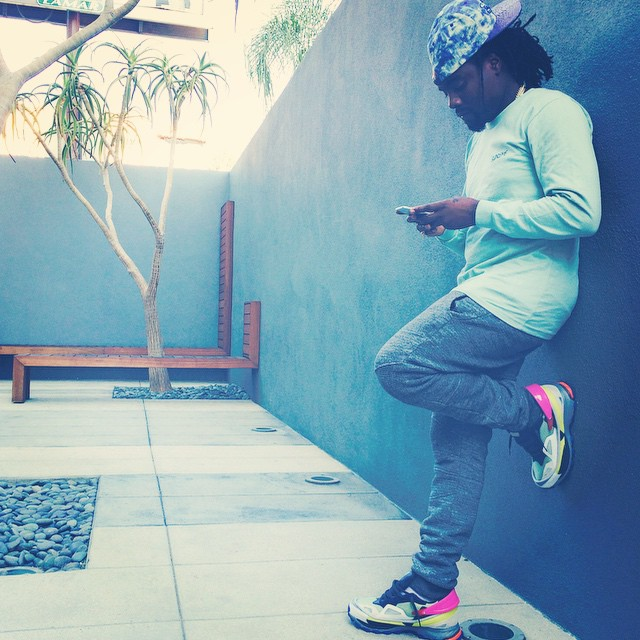 Wale wearing Raf Simons for adidas Response Trail