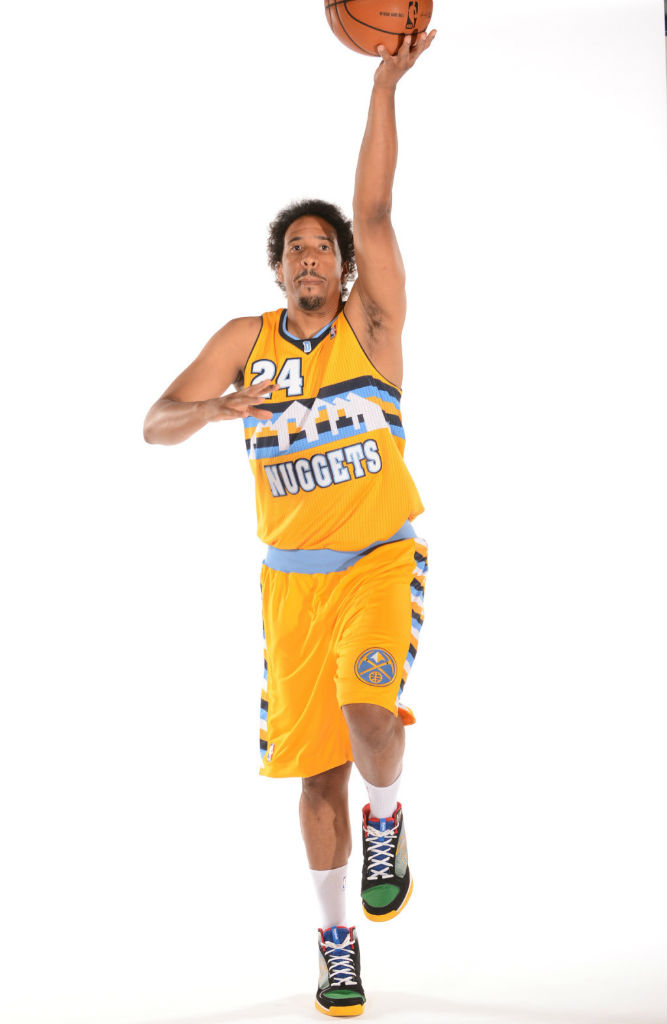 Andre Miller wearing Reebok SubLite Pro Rise