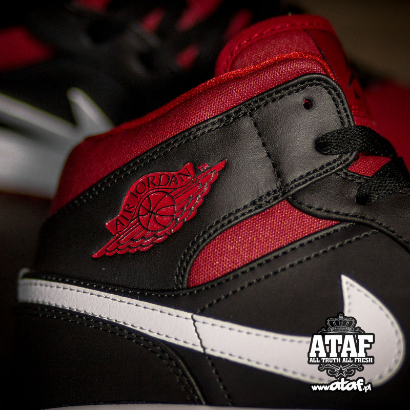 36f003685c0d2 Air Jordan I 1 Mid Black Gym Red 554724-020 (3)