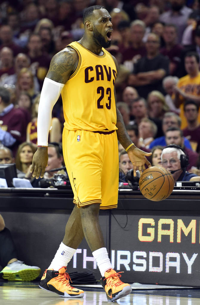 0ecc5113886 LeBron James wears Witness Nike LeBron XII 12 in Game 3 of the NBA Finals (