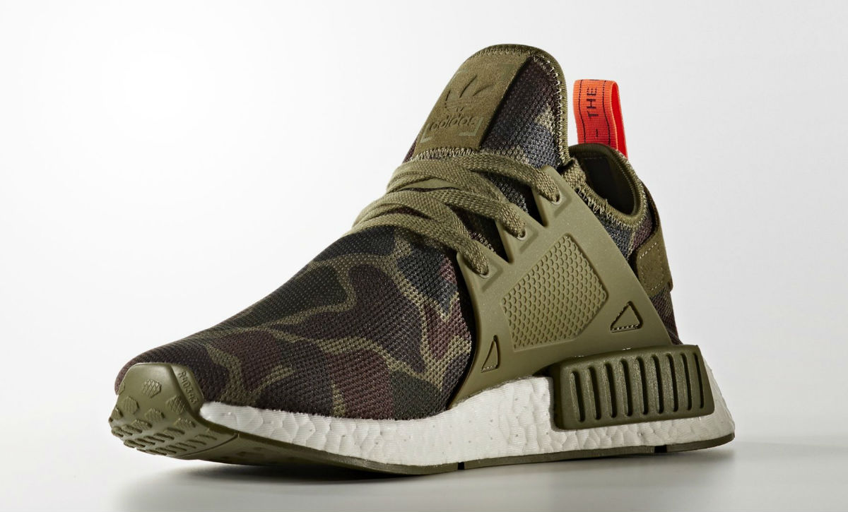 separation shoes 45ef5 79849 Adidas NMD XR1 Green Camo Medial BA7232