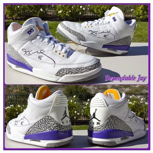 timeless design b49d4 e7213 Kobe Air Jordan 3 Lakers PE Release Date (1)