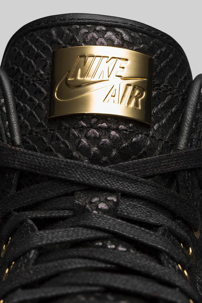 Air Jordan 1 Pinnacle Black/Gold 705075-030 (9)
