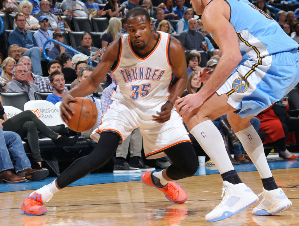 100% authentic 63ee4 37229 Kevin Durant wearing the  Creamsicle  Orange Nike KD 8 (3)