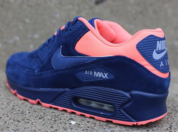 Nike Air Max 90 Premium – Brave Blue – Atomic Pink Now