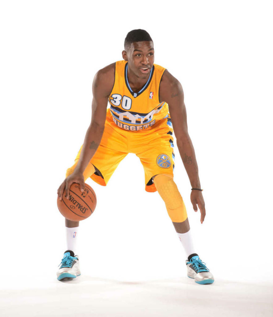 Quincy Miller wearing Under Armour Micro G Torch Low
