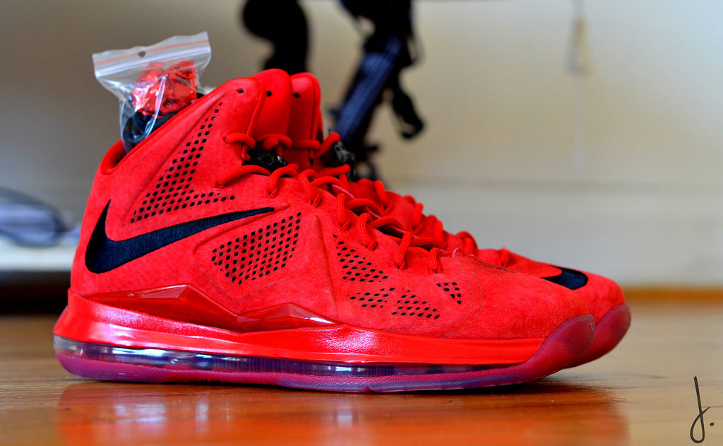 Nike LeBron X EXT Red Suede
