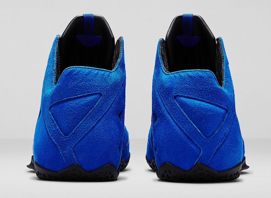 Nike LeBron 11 EXT Blue Suede Heel