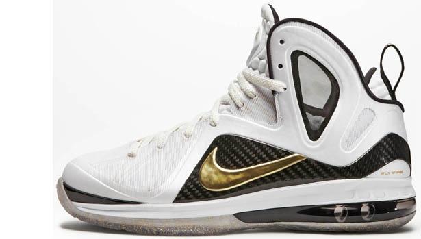 Nike LeBron 9 PS Elite White/Metallic Gold
