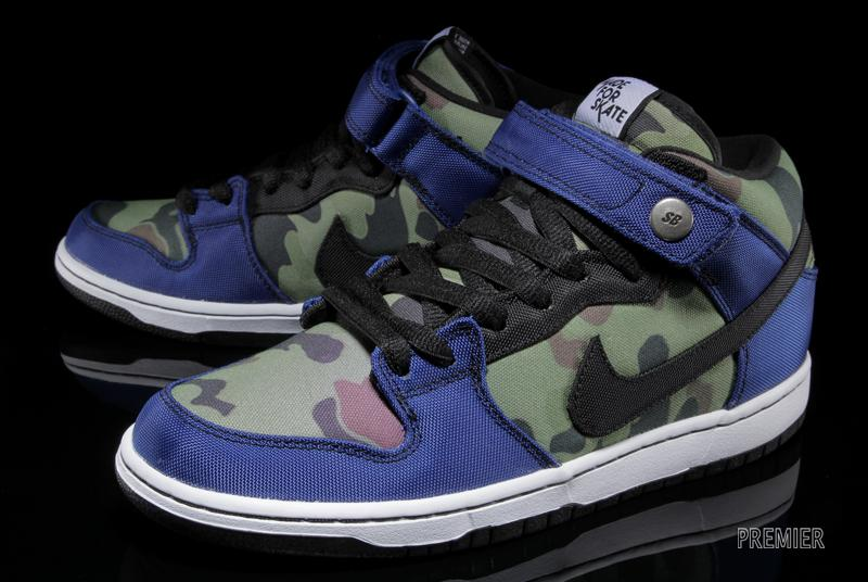 ced949719e92 Made for Skate x Nike Dunk Mid Pro in Old Royal and Camo