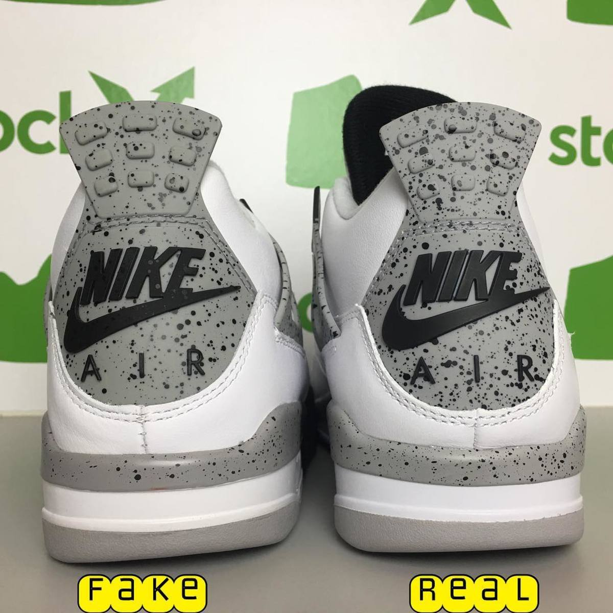 "Real Vs Fake Retro 12: Air Jordan IV 4 ""Cement"" Real Vs. Fake Legit Check: Box"