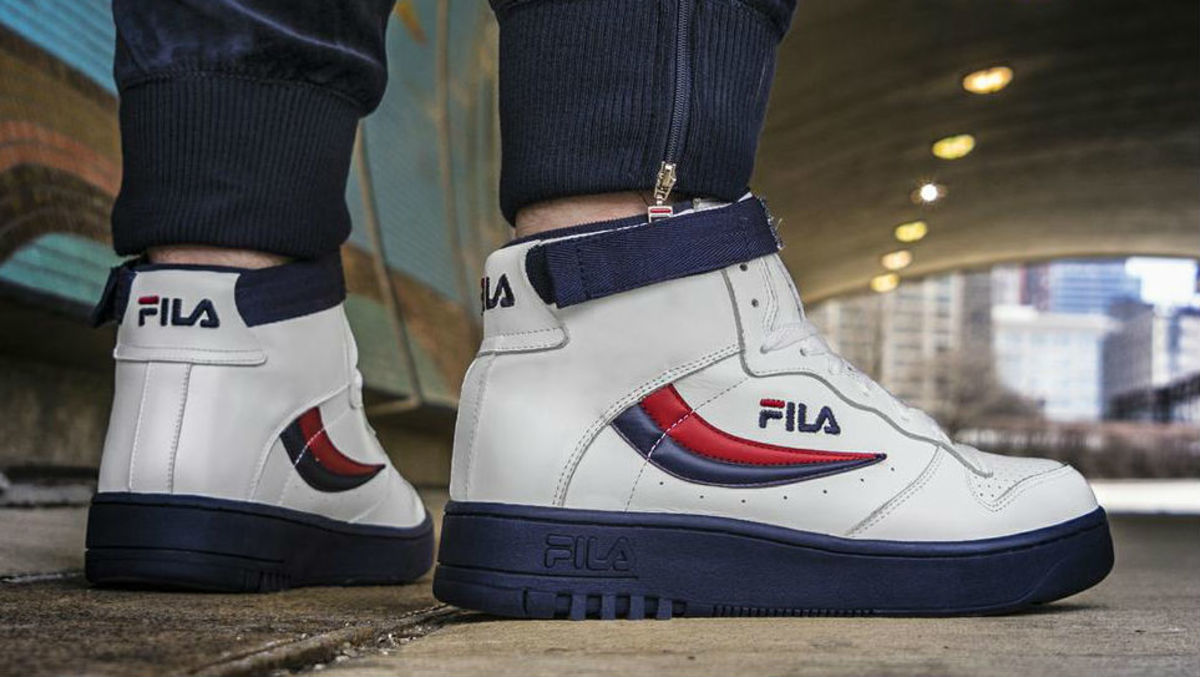 White Fila Basketball Shoes