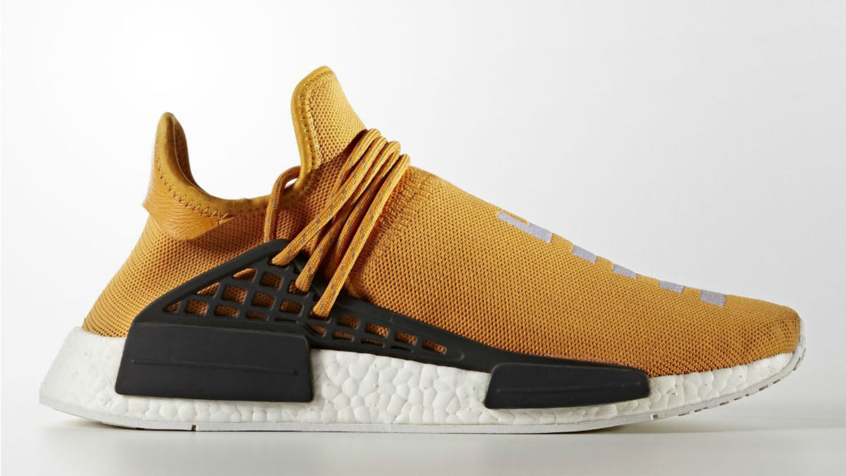 orange pharrell adidas nmd human race tangerine sole. Black Bedroom Furniture Sets. Home Design Ideas