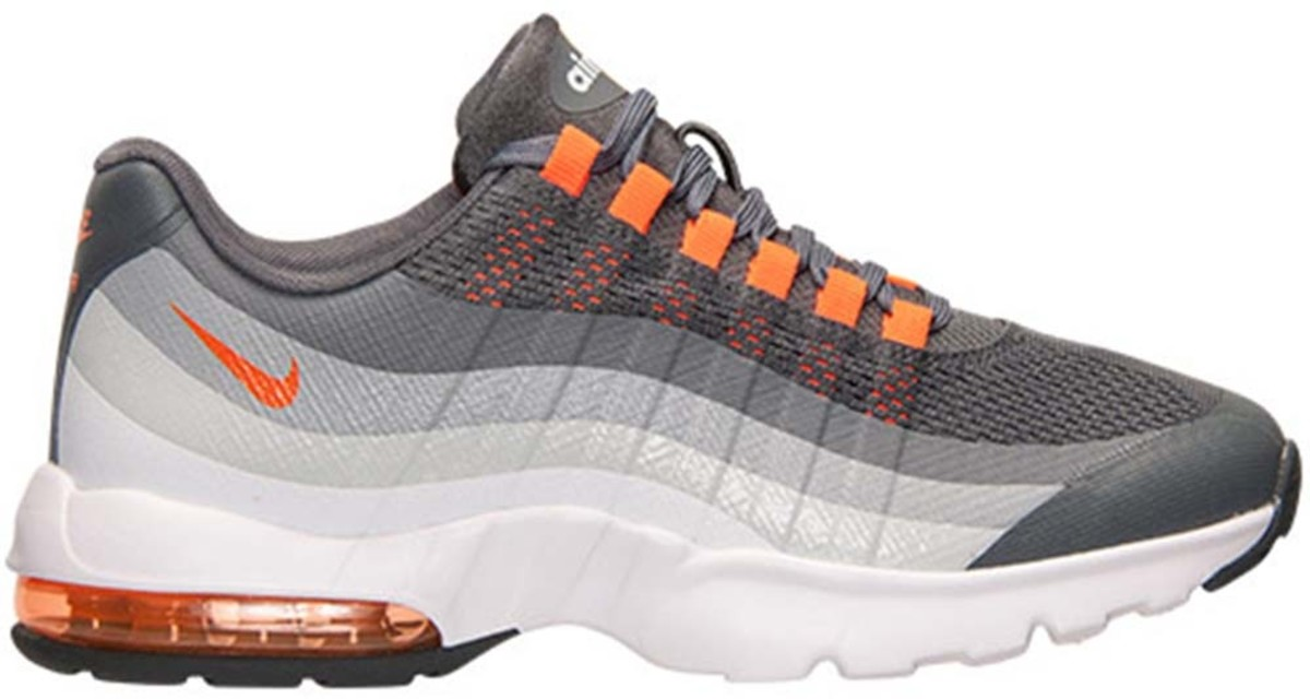 online store c3985 5b2e1 Nike Air Max 95 Grey Orange