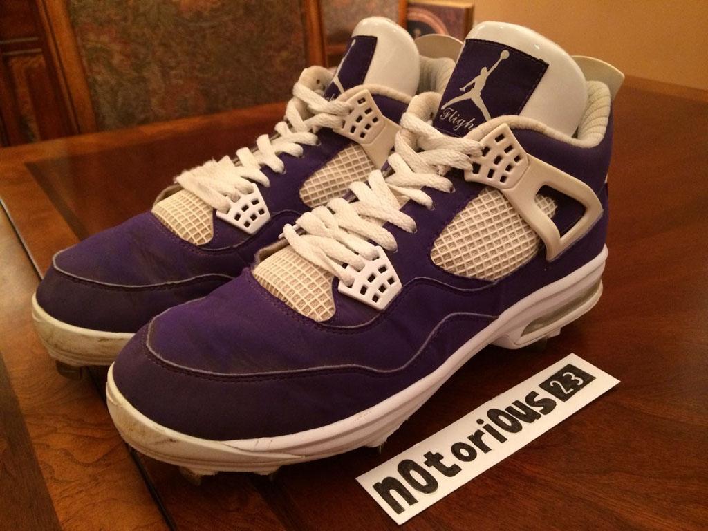 University Of Colorado Athletics >> Purple Air Jordan 4 Cleats for Sunset High Baseball | Sole Collector