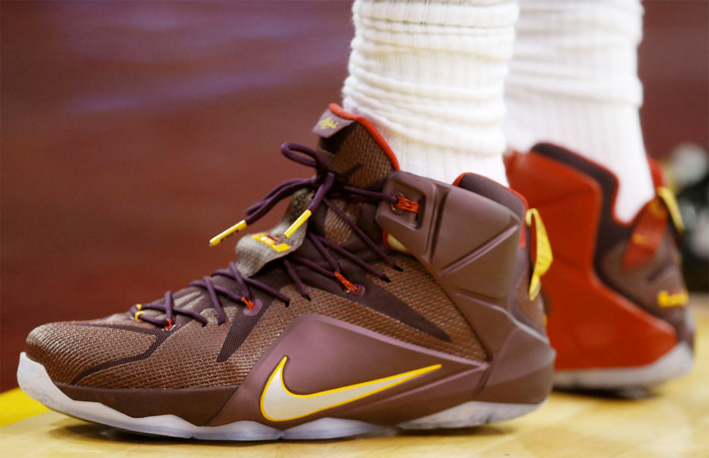 LeBron James wearing a 'Double Helix' Nike LeBron XII 12 PE