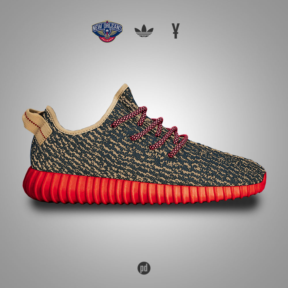 adidas Yeezy 350 Boost for the New Orleans Pelicans