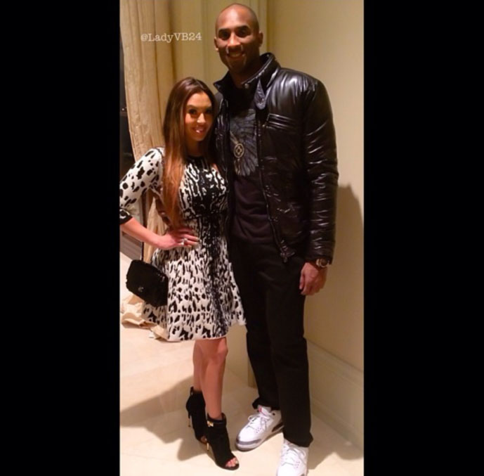 Kobe Bryant wearing Air Jordan 3 Cement