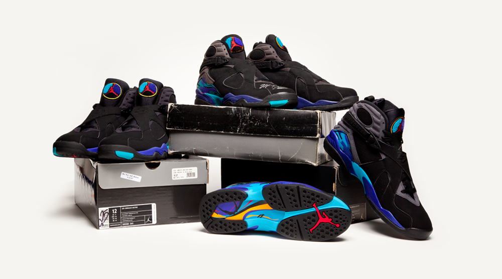 ef691571b1bb38 See How the  Aqua  Air Jordan 8 Compares to the Original