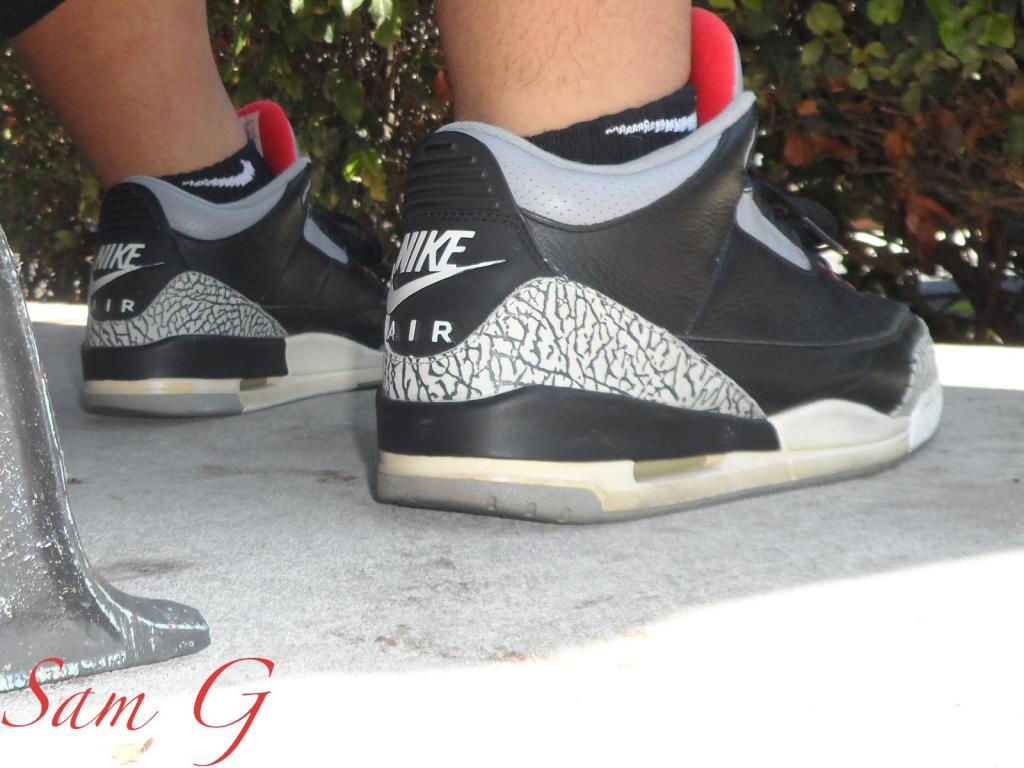 Spotlight // Forum Staff Weekly WDYWT? - 8.31.13 - Air Jordan III 3 Retro Black Cement by lashoecollector
