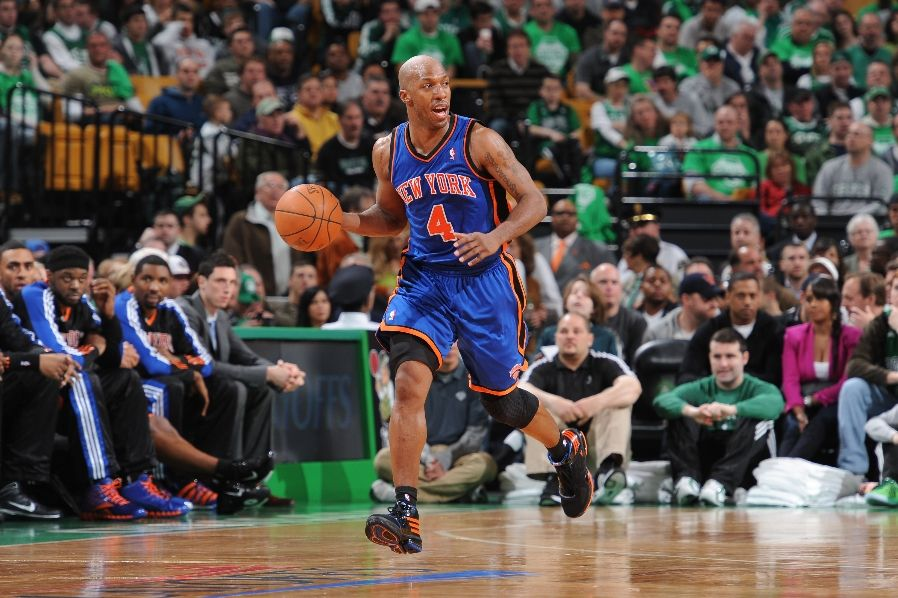 Chauncey Billups wearing the adidas TS Lightning Creator