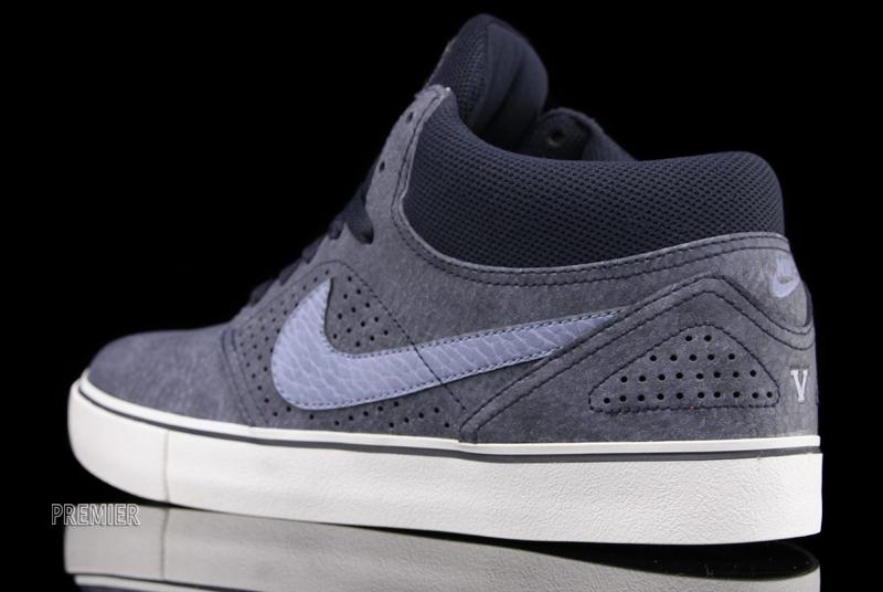 detailed pictures available buy sale Nike SB Paul Rodriguez V Mid LR - Dark Obsidian / Work Blue ...