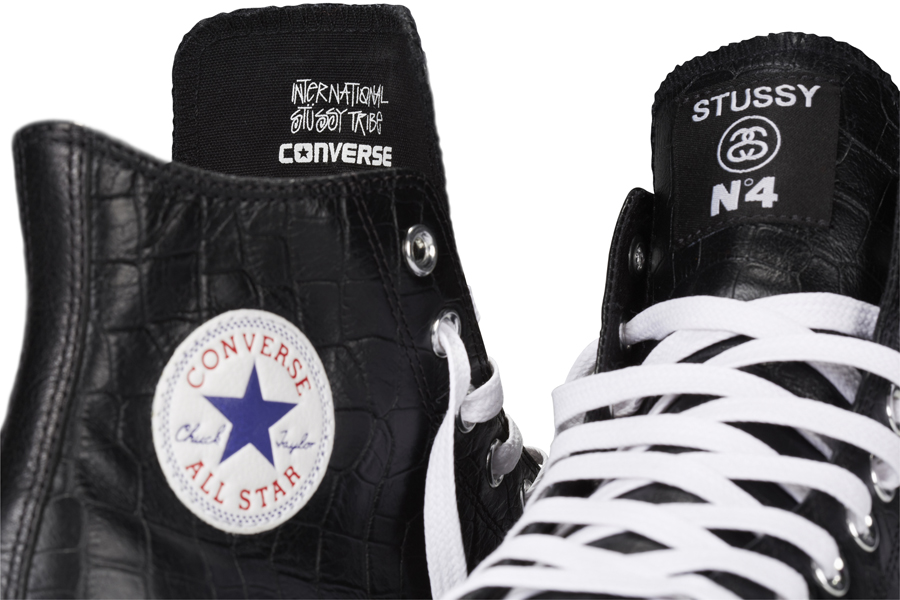 Stussy x Converse Chuck Taylor All Star Collection tongue details