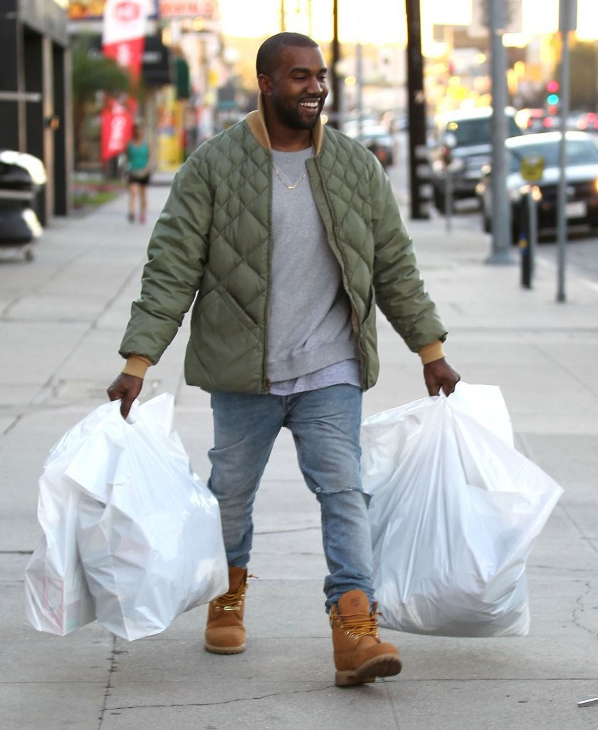 Kanye West wearing Timberland 6-Inch Boot 40th Anniversary