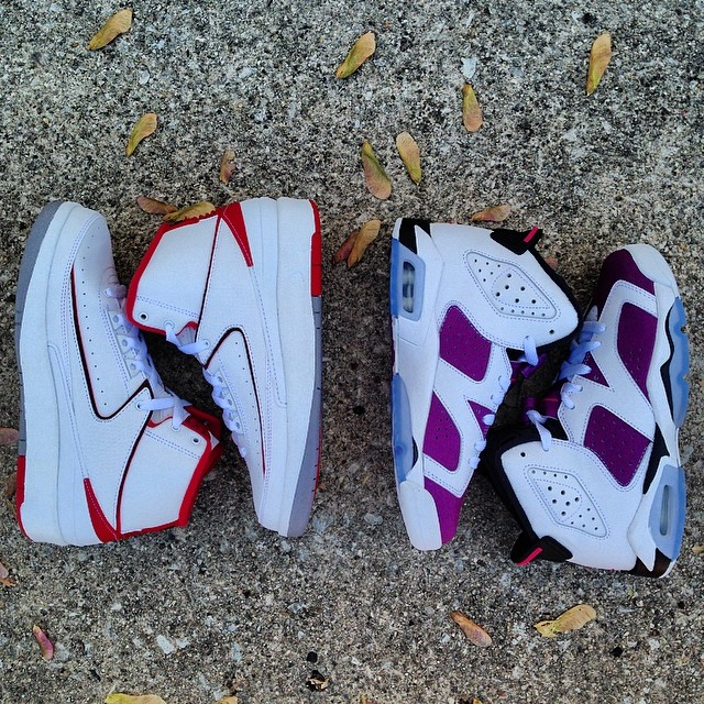 66f6aa04db0a Air Jordan VI 6 Grape Purple GS Girls 543390-127 (2)