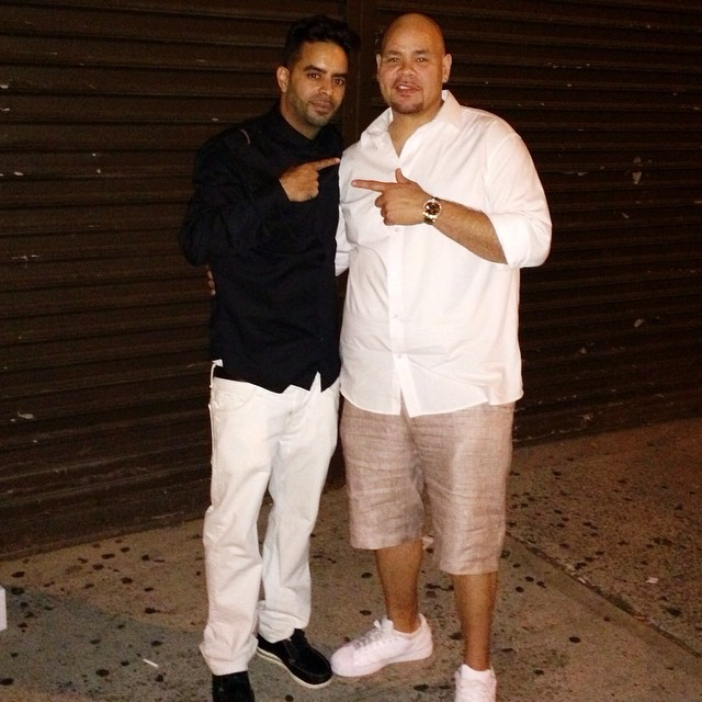 Fat Joe wearing adidas Originals Superstar