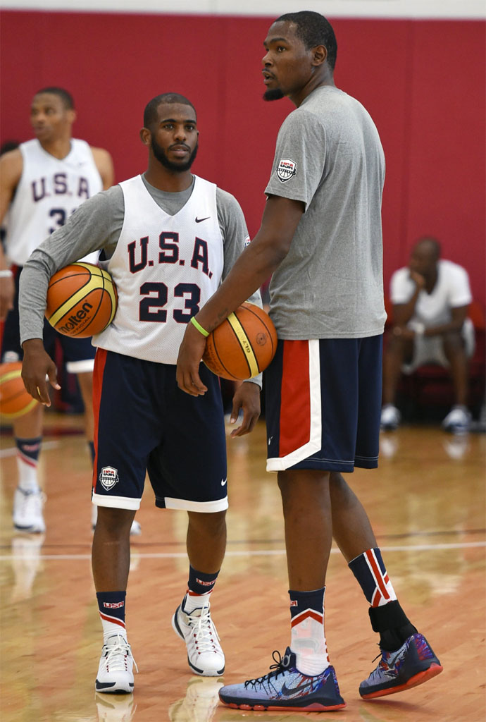 on sale 0f9cd b2cff Kevin Durant wearing the  USA  Nike KD 8