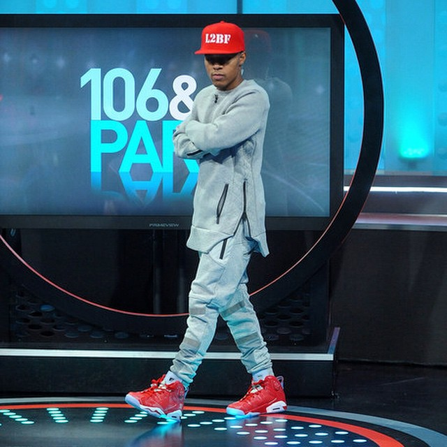 Bow Wow wearing Slam Dunk x Air Jordan VI 6