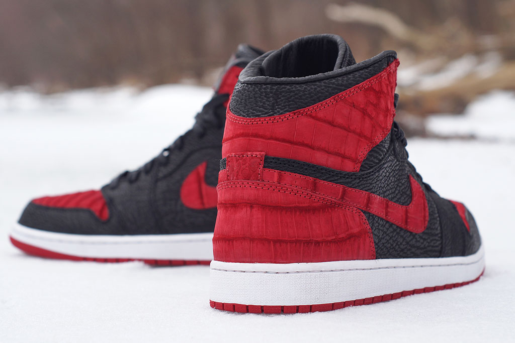 Air Jordan 1 Croc + Shark  Bred  by JBF Customs (1) 784deaded