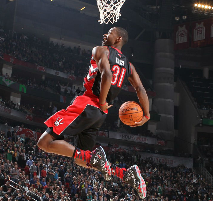 Terrence Ross Wins the 2013 Slam Dunk Contest in the 'Area 72' Nike Air Max Barkley Posite