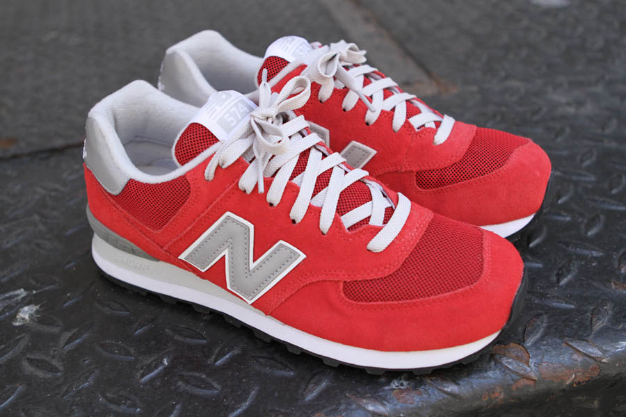 new balance 574 red and grey
