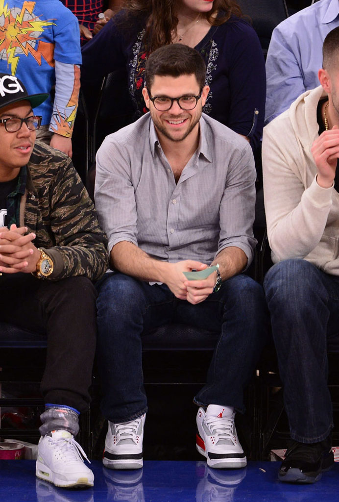 Jerry Ferrara wearing Air Jordan 3 Retro Fire Red
