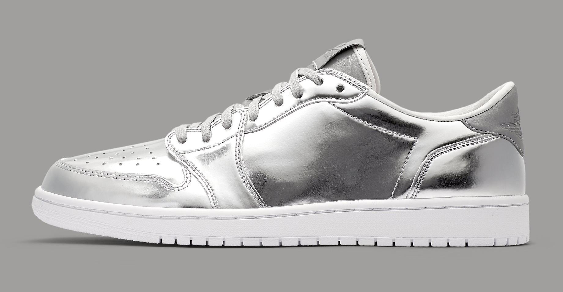 65a2383317c0b3 Pinnacle Air Jordan 1 Low Silver Release Date