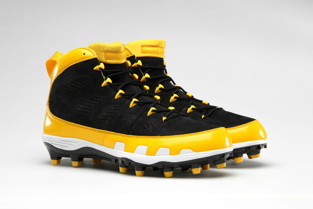 Air Jordan Retro IX 9 Cleats for Team Jordan - LaMarr Woodley Steelers (1)