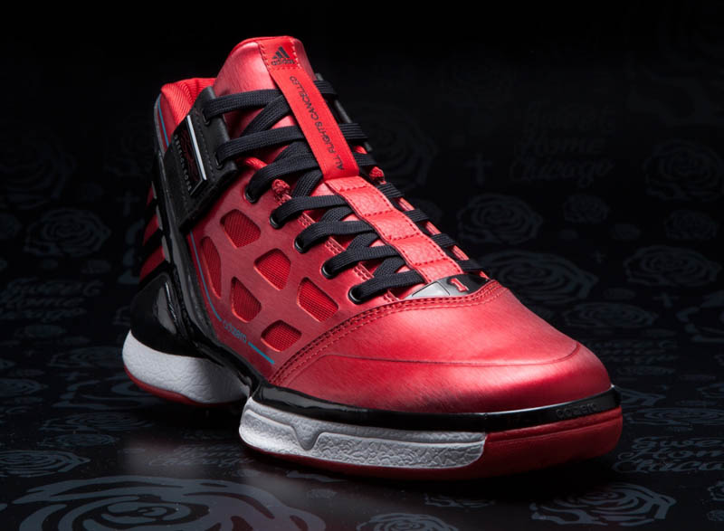 new product f209f 1c1db adidas adiZero Rose 2 Windy City L-Train Christmas G47565