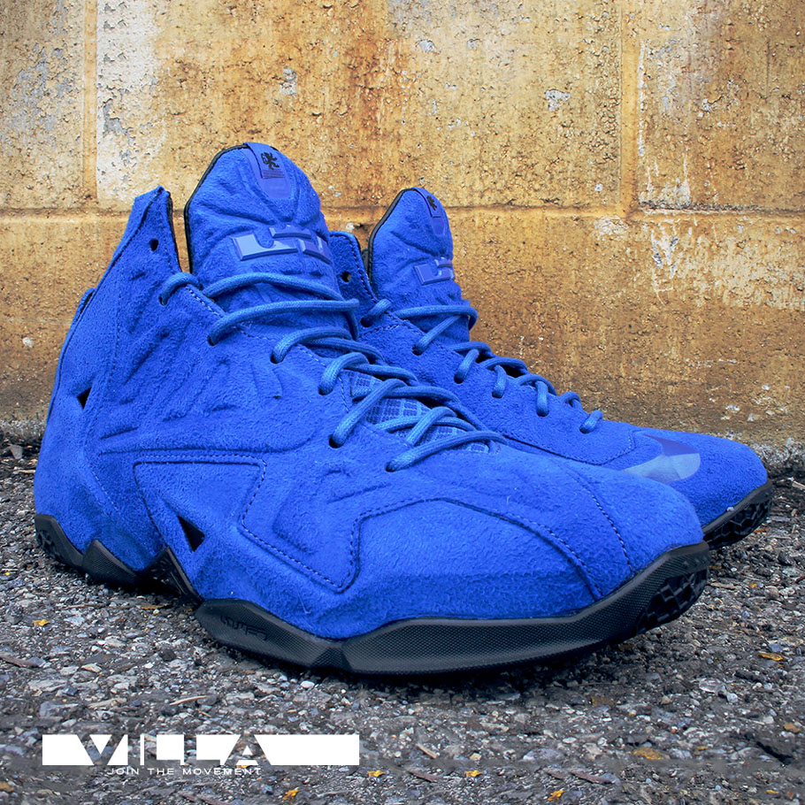online store 03727 2e2ec Nike LeBron XI 11 EXT Blue Suede (2)